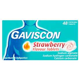 Gaviscon Strawberry Flavour Tablets 48