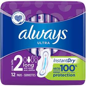 Always Ultra Long Sanitary Towels with Wings 12