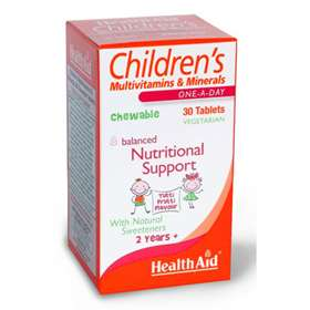 HealthAid Children's Multivitamins & Minerals 30 Chewable Tablets