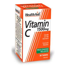 HealthAid Prolonged Release Vegan Vitamin C 1500mg 30 tablets
