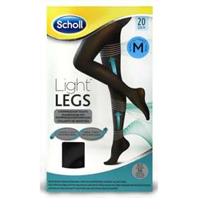 Scholl Light Legs Tights Black 20 Denier Medium 1 Pair