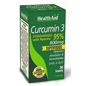 HealthAid Curcumin 3 600mg 30 Tablets