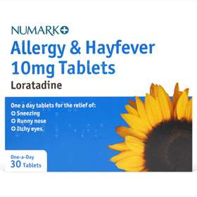 Numark  Allergy and Hayfever Loratadine 10mg One-a-Day Tablets (30)