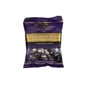 Picklecoombe House Manuka Honey Nuggets with Blackcurrant 120g