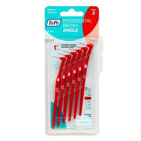 TePe Interdental Brush Angle Size 2 Red 6 Pieces