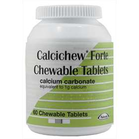 Calcichew Forte Calcium Carbonate Chewable Tablets 60