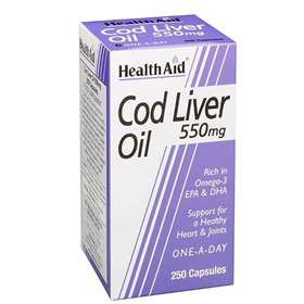 HealthAid Cod Liver Oil 550mg 90 capsules