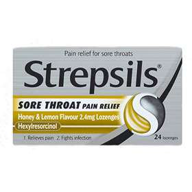 Strepsils Sore Throat Pain Relief Lozenges Honey And Lemon 24