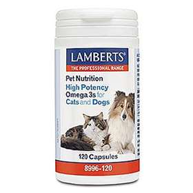 Lamberts Pet Nutrition High Potency Omega 3s For Cats And Dogs 120 Capsules