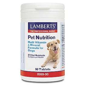 Lamberts Pet Nutrition Multi Vitamin & Mineral Formula for Dogs 90 Tablets