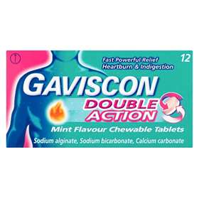 Gaviscon Double Action Mint Flavour Chewable Tablets 12