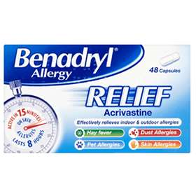 Benadryl Allergy Relief Capsules 48