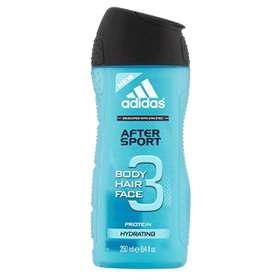 Adidas After Sport Body, Hair And Face Shower Gel 250ml