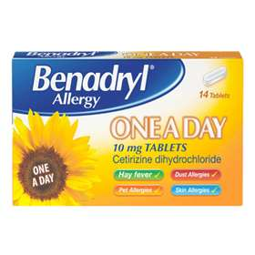 Benadryl Allergy One A Day Tablets 14