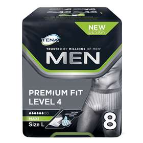 Tena Men Premium Fit Protective Underwear Level 4 Maxi Large 8