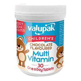 Valupak Children's Chocolate Flavoured Multivitamins 30