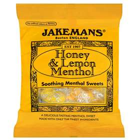 Jakemans Honey and Lemon Menthol Sweets 100g
