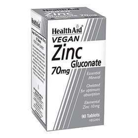 HealthAid Zinc Gluconate 70mg 90 Tablets