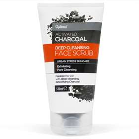 Optima Activated Charcoal Deep Cleansing Face Scrub 125ml