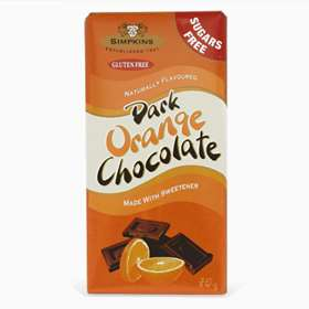 Simpkins Gluten Free Dark Orange Chocolate 75g