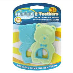 Griptight 2 Teethers - Blue & Green