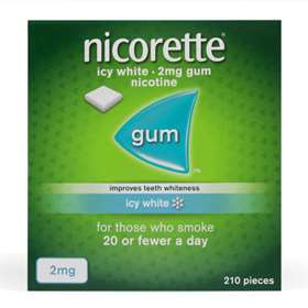 Nicorette Icy White 2mg Gum 210 Pieces
