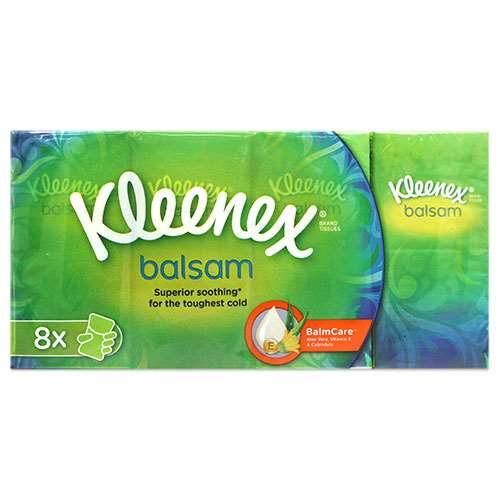 Kleenex Balsam Tissues 8 Pocket Packs