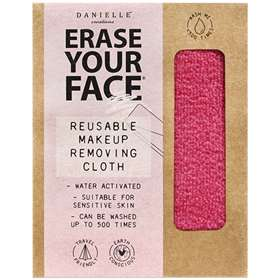Erase Your Face Reusable Makeup Removing Cloth Pink
