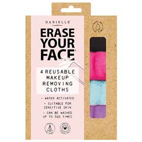 Erase Your Face Reusable Makeup Removing Cloth 4 Set Bright