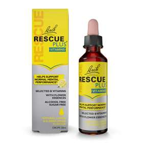 Bach Rescue Plus Vitamins Lemon & Elderflower Drops 20ml