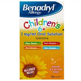Benadryl Allergy Children's (6 Years+) Oral Solutions 70ml