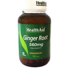 HealthAid Ginger Root 560mg 60 Tablets