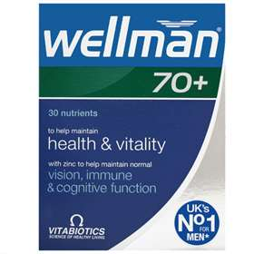 Wellman Vitabiotics 70+ 30 Tablets