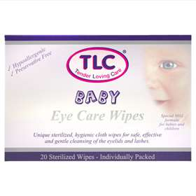 TLC Baby Eye Wipes 20 Wipes