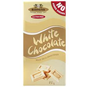 Simpkins White Chocolate Made with Sweetener 75g