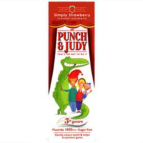 Punch and Judy Children's Toothpaste Strawberry 3 Years 50ml