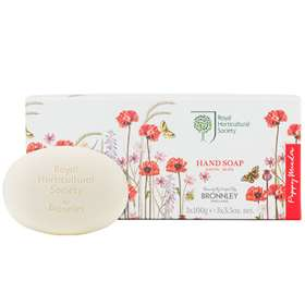 Bronnley Royal Horticultural Society Poppy Meadow Hand Soap 3x100g