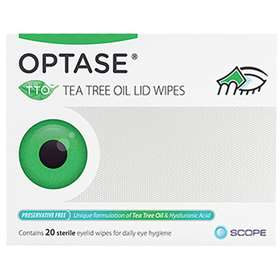 Optase Tea Tree Oil Lid Wipes 20