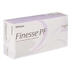 Polyco Finesse PF Clear Vinyl Disposable Gloves Small 100