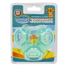 Griptight 3 Blue Orthodontic Soothers 0-6+ months