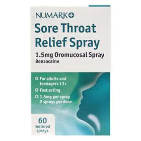 Numark Sore Throat Relief Spray 60 Metered Sprays