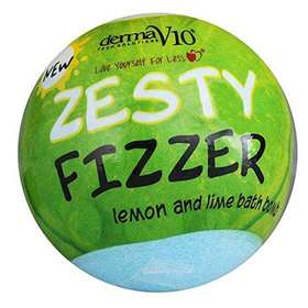 DermaV10 Zesty Fizzer Lemon and Lime Bath Bomb