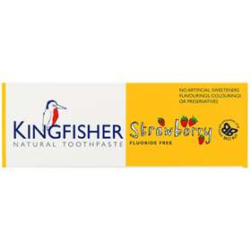 KingFisher Strawberry Flavour Fluoride Free Natural Toothpaste 75ml