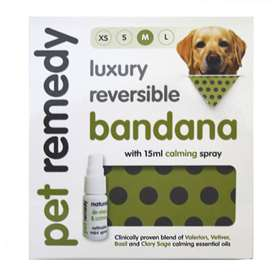 Pet Remedy Bandana w/15ml Calming Spray