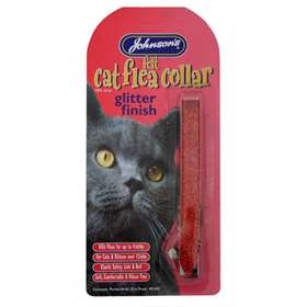 Johnson's Felt Cat Flea Collar Glitter Finish