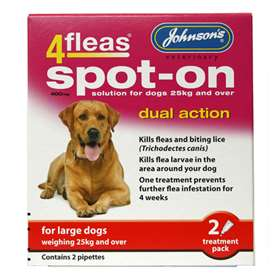 Johnson's Large Dog Spot-On Solution 2 Treatment Pack