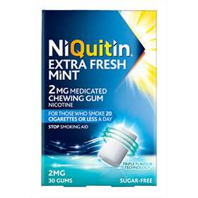 NiQuitin Extra Fresh Mint Gum 2mg 30 pieces