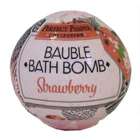 Bauble Bath Bomb Strawberry 150g