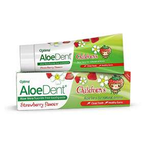 AloeDent Children's Strawberry Flavour Triple Action Fluoride and SLS Free toothpaste