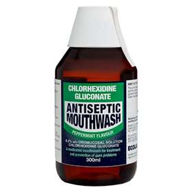 Chlorhexidine Gluconate Antiseptic Mouthwash Peppermint 300ml